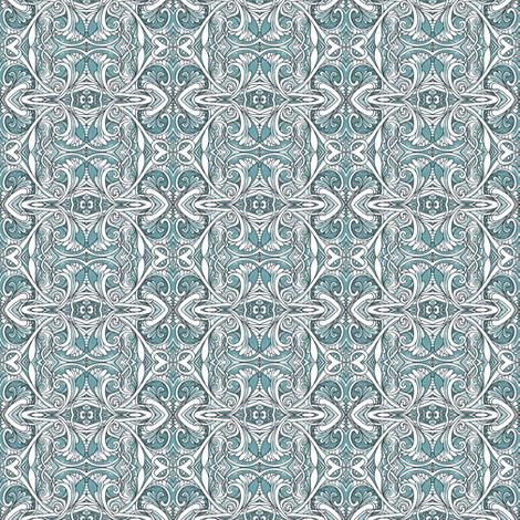 Art Gone Fluffy (blue) fabric by edsel2084 on Spoonflower - custom fabric
