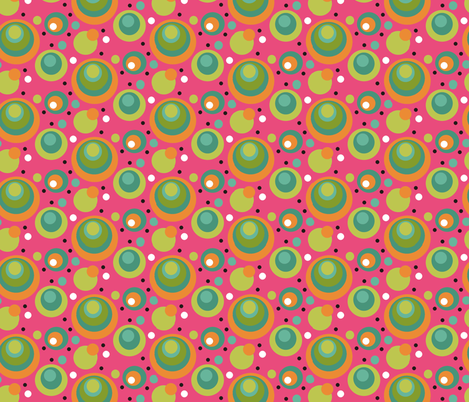 Sherbert__Pink_Polkas_copy fabric by kelly_a on Spoonflower - custom fabric