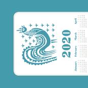 2020 Calendar Towel - Butterprint Rooster