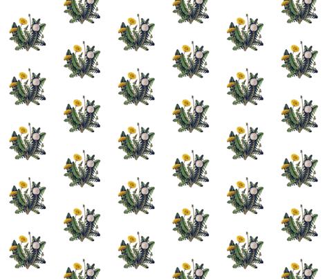 Dandelion fabric by thistleandfox on Spoonflower - custom fabric