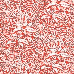 Havana Lilies in Red Orange