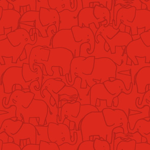 Red Hugo Elephant