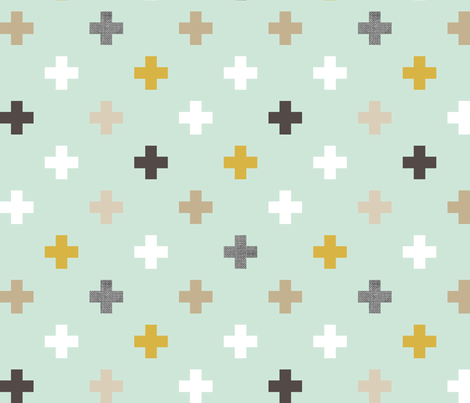 mod mint plus fabric by mrshervi on Spoonflower - custom fabric