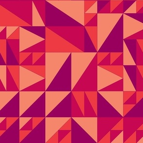 Triangles - Reds/Pinks
