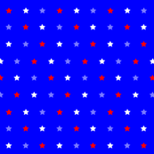 Red White Blue Star Dot