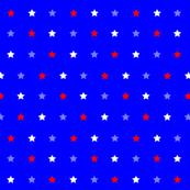 Red White Blue Star Dot