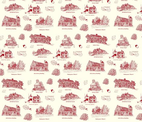 RedCreamStratfordToile fabric by joofalltrades on Spoonflower - custom fabric