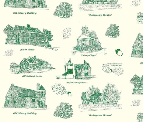 GreenCreamStratfordToile_larger fabric by joofalltrades on Spoonflower - custom fabric