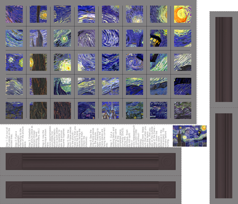 Starry   Night Cheater Quilt fabric by patchinista on Spoonflower - custom fabric