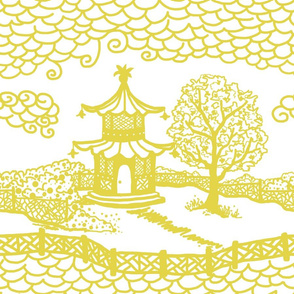 Pagoda Cloud- Citron on White