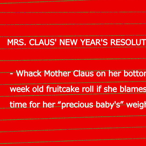 Mrs Claus New Years Resolution 2013