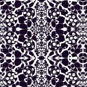 batik in white and navy
