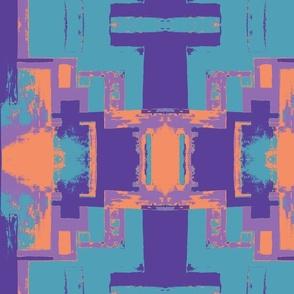 Purple Orange and Turquoise Tribal