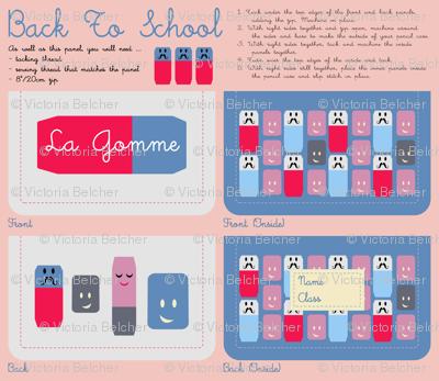 'La Gomme' Pencil Case Kit