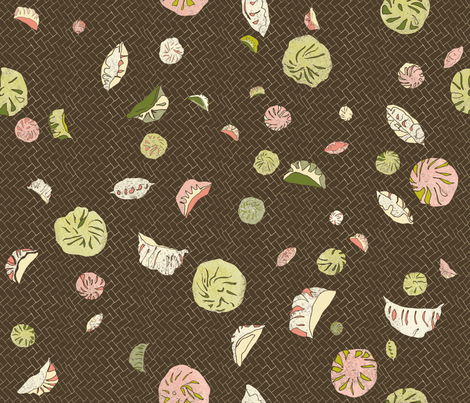 BanhBao_DimSum fabric by rouge_pivoine on Spoonflower - custom fabric