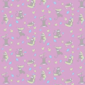 monkeys pink