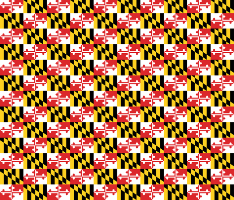 Maryland Flags fabric by elramsay on Spoonflower - custom fabric