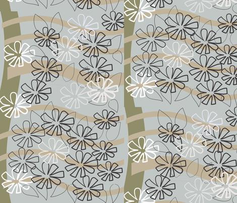 SOOBLOO_flower_43-g-01 fabric by soobloo on Spoonflower - custom fabric