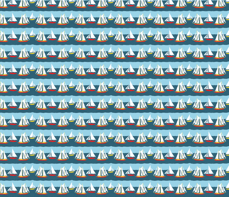 sailing2 fabric by linsart on Spoonflower - custom fabric