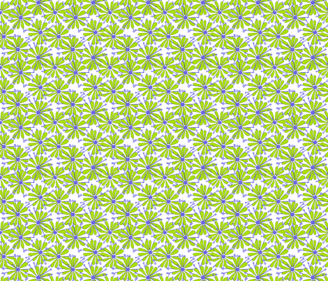 Groovy Daisy fabric by lulabelle on Spoonflower - custom fabric