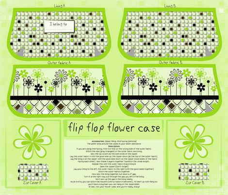 cut and sew flip flop flower case fabric by ellila on Spoonflower - custom fabric