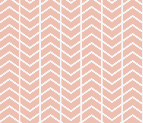 chevron stripe Dusty pink fabric by ninaribena on Spoonflower - custom fabric