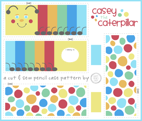 Casey the Caterpillar fabric by happyprintsshop on Spoonflower - custom fabric