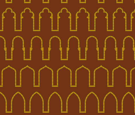 Arches-Brick Red fabric by redrobincreations on Spoonflower - custom fabric