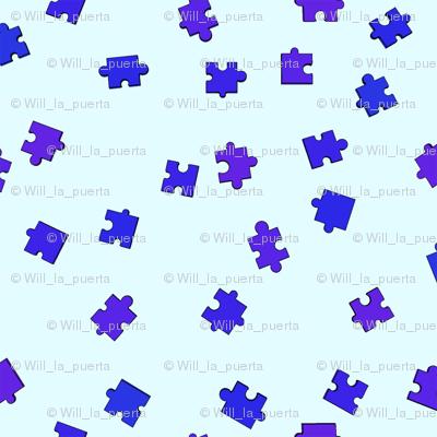 Puzzle Pieces - Blue