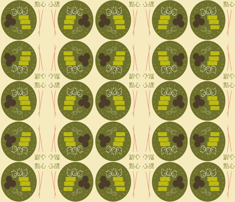 DimSum table fabric by firedryad1 on Spoonflower - custom fabric