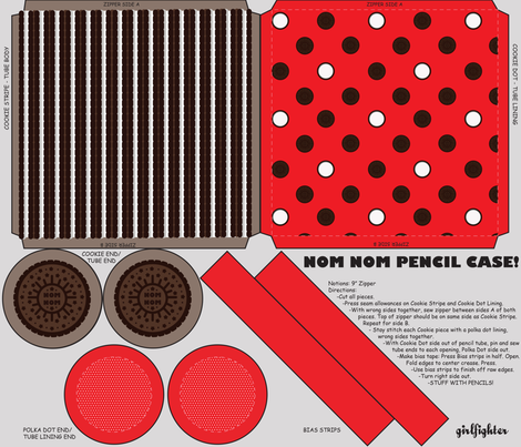 Nom Nom Pencil Case fabric by ohgnomegirl on Spoonflower - custom fabric