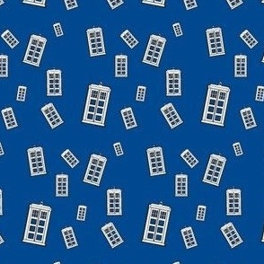 blue  Police Box  collage