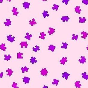 Puzzle Pieces - Purple