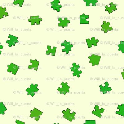 Puzzle Pieces - Green
