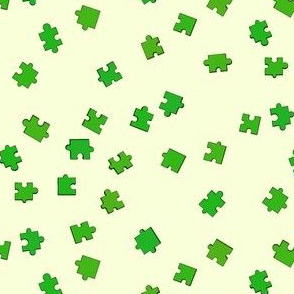 Puzzle Pieces - Green