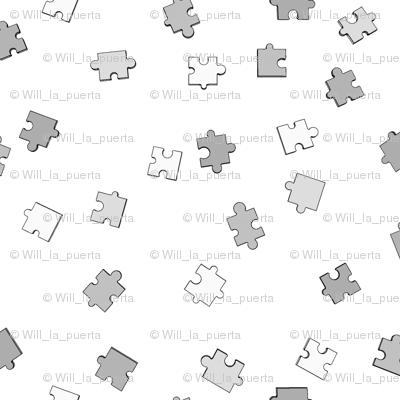 Puzzle Pieces - Grey