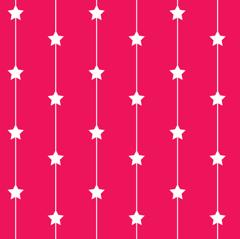 Falling stars on hot pink fabric by designseventynine on Spoonflower - custom fabric