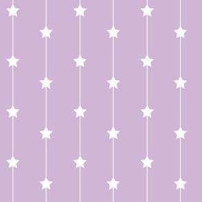 Falling stars on dusty lilac
