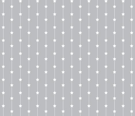 Falling stars on pale grey fabric by designseventynine on Spoonflower - custom fabric
