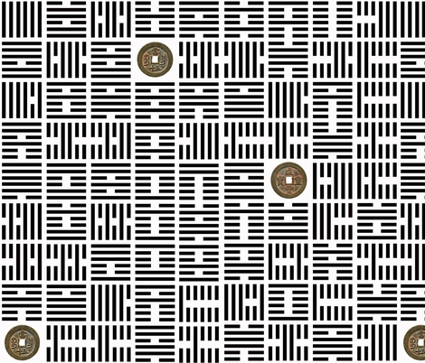 IChing_BW fabric by bearhide on Spoonflower - custom fabric