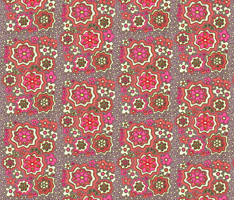 Just Peachy fabric by whimzwhirled on Spoonflower - custom fabric