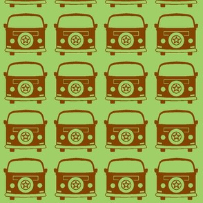 camper brown green