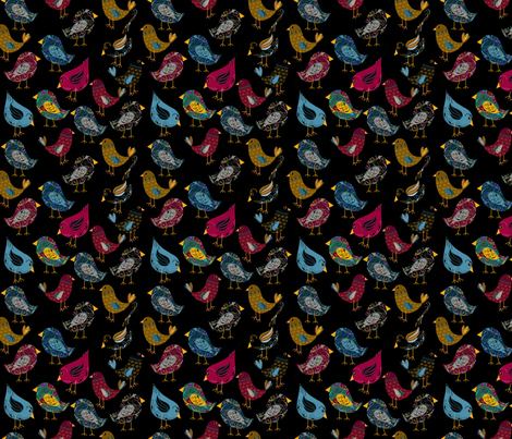 Pretty Birds fabric by cherie on Spoonflower - custom fabric