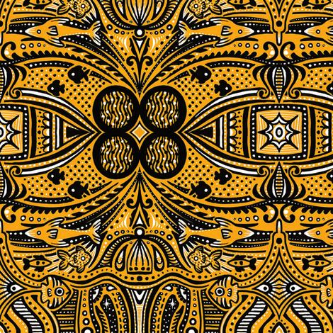 Golden Atlantis fabric by siya on Spoonflower - custom fabric
