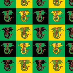 dragon w 4 patch green
