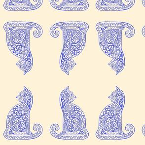celtic cat 8 delft blue cream