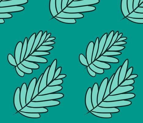 Rei's Leaf Skirt Pattern fabric by starlinehodge on Spoonflower - custom fabric