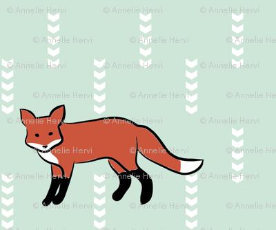Fox On Mint