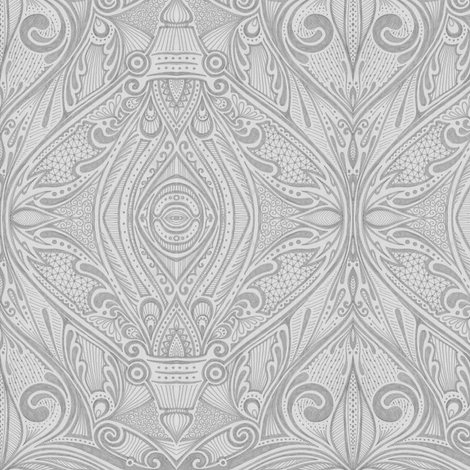 Alecto - Gray fabric by siya on Spoonflower - custom fabric