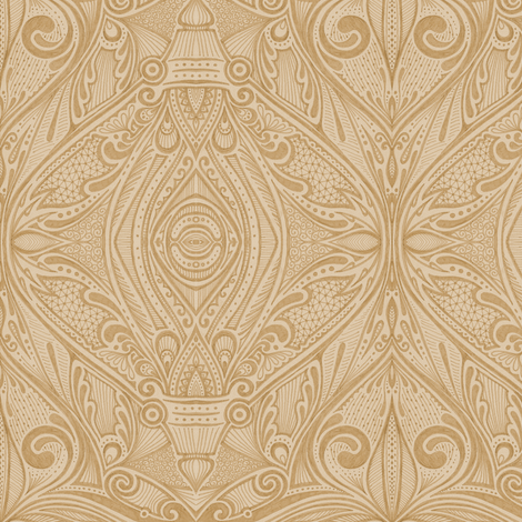 Alecto - Cafe au Lait fabric by siya on Spoonflower - custom fabric